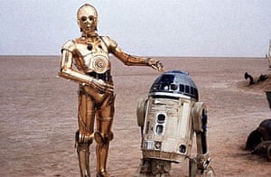 C3PO and R2D2 in Star Wars (1977)