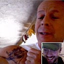 Bruce Willis grab from iChat, June 6 2007