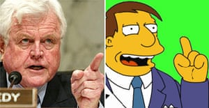 Ted Kennedy and Mayor Quimby
