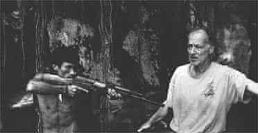 Werner Herzog on the set of Rescue Dawn
