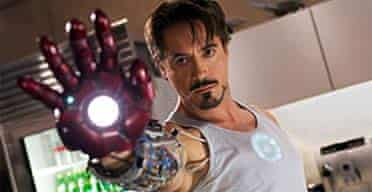 Robert Downey Jnr as Iron Man