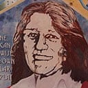 Portrait of Bobby Sands on a mural