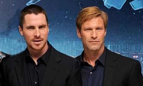 Aaron Eckhart and Christian Bale