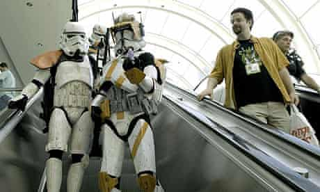 Fans dressed as Star Wars characters attend the 2006 Comic-Con convention in San Diego