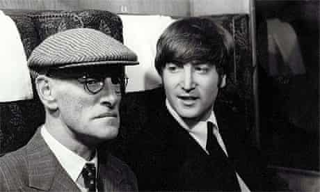 John Lennon and Wilfred Brambell in A Hard Day's Night 1964