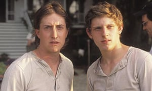 David Gordon Green with Jamie Bell on the set of Undertow