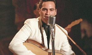 Joaquin Phoenix playing Johnny Cash in Walk the Line