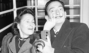 Salvador Dali and his wife, Gala, photographed in 1954