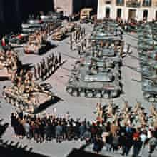 A view from above of a parade ground in Patton