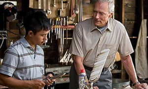 Bee Vang and Clint Eastwood in Gran Torino