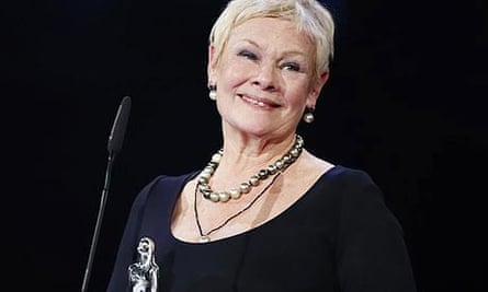 Dame Judi Dench receives the lifetime achievement award at the European film awards in Copenhagen