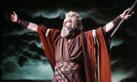 Charlton Heston as Moses in The Ten Commandments (1956)