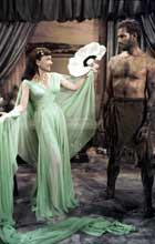 Anne Baxter as Nefretiri and Charl;ton Heston and Moses in The Ten Commandments (1956)