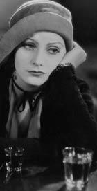 Greta Garbo with drink