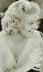 Jean Harlow with drink