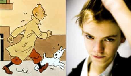 Tintin and Thomas Sangster