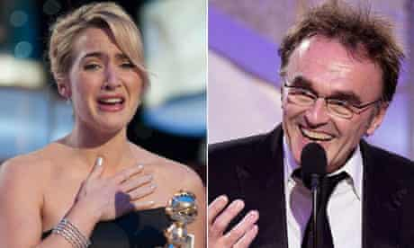 Kate Winslet and Danny Boyle at the Golden Globes