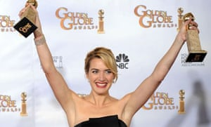Kate Winslet at the Golden Globes