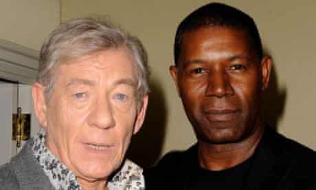 Ian McKellen and Dennis Haysbert at the Golden Globes Gifting Suite