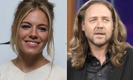 Sienna Miller and Russell Crowe