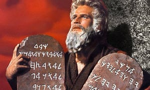 Charlton Heston as Moses in The Ten Commandments (1956)