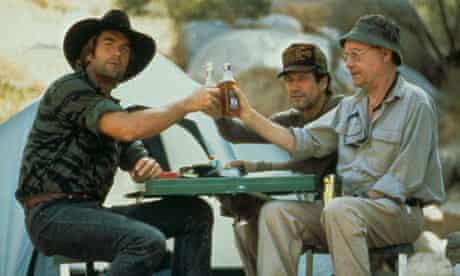 Huey Lewis, Fred Ward and Buck Henry
