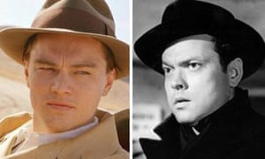Leonardo DiCaprio in The Aviator and Orson Welles in The Third Man