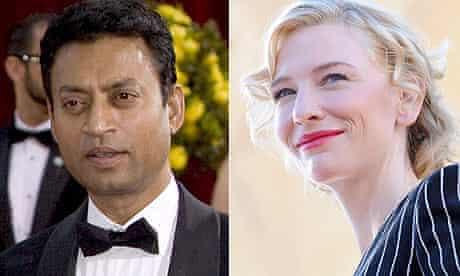 Irrfan Khan and Cate Blanchett