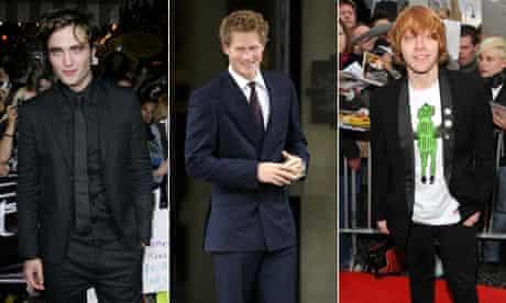 Robert Pattinson, Prince Harry and Rupert Grint