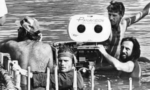 Vilmos Zsigmond (bottom right) filming The Deer Hunter
