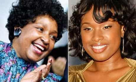 Winnie Mandela (pictured in 1990) and Jennifer Hudson