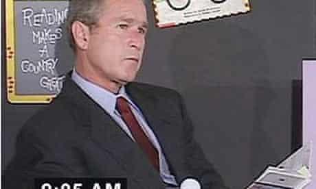 George Bush reading The Pet Goat on 9/11