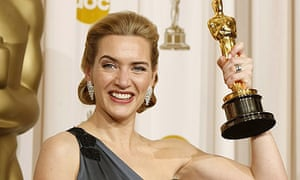 Kate Winslet with her best actress Oscar for The Reader