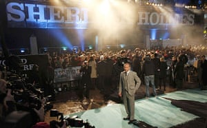 Sherlock Holmes: Guy Ritchie arrives for the world premiere of Sherlock Holmes