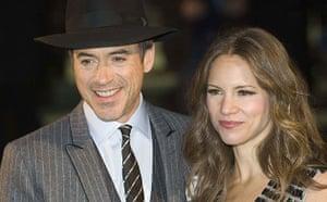 Sherlock Holmes: Robert Downey Jr and wife Susan at world premiere of Sherlock Holmes