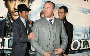 Sherlock Holmes: Robert Downey Jr, Guy Ritchie and Jude Law at premiere of Sherlock Holmes