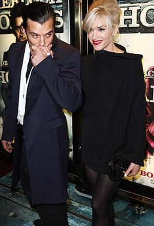 Sherlock Holmes: Gavin Rossdale and Gwen Stefani at the world premiere of Sherlock Holmes