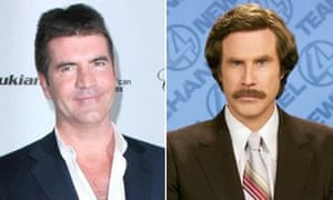 Simon Cowell and Will Ferrell