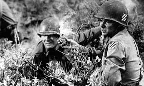 Audie Murphy (right) in To Hell and Back (1955)