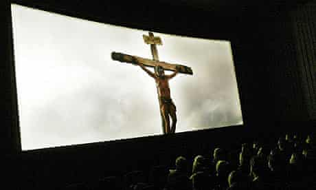 A screening of Mel Gibson's The Passion of the Christ in Michigan in 2004