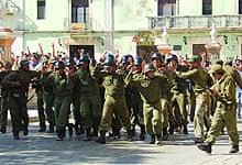 Santa Clara victory scene in Che: Part One