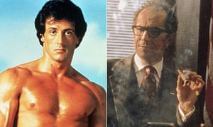 Sylvester Stallone in Rocky and Gary Oldman in The Contender