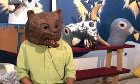 Papier mâché animal heads by Mike Ballou