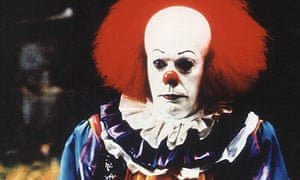 Tim Curry as Pennywise in the 1990 TV adaptation of Stephen King's It