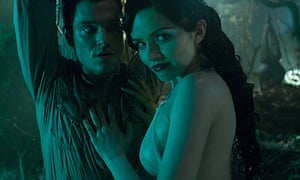 Mathew Horne with Vera Filatova in Lesbian Vampire Killers