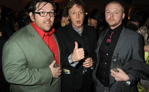The Boat That Rocked: Nick Frost, Paul McCartney and Simon Pegg, The Boat That Rocked premiere