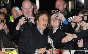 The Boat That Rocked: Paul McCartney greets fans at the world premiere of The Boat That Rocked