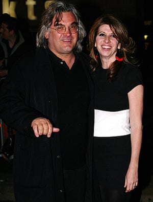 The Boat That Rocked: Paul Greengrass and Joanna Kaye at the premiere of The Boat That Rocked