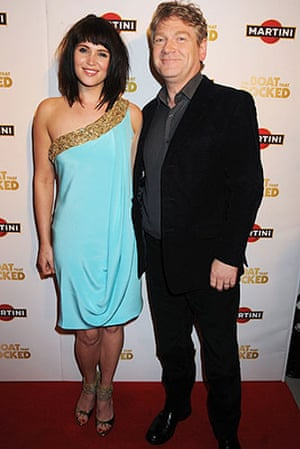 The Boat That Rocked: Gemma Arterton with Kenneth Branagh at the premiere of The Boat That Rocked
