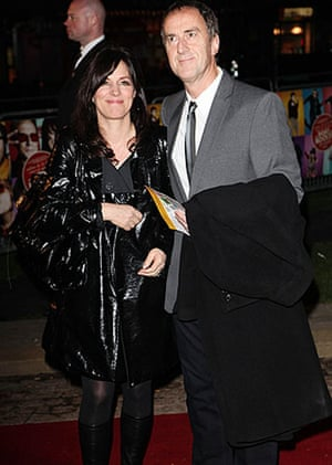 The Boat That Rocked: Lise Mayer and Angus Deayton at the world premiere of The Boat That Rocked